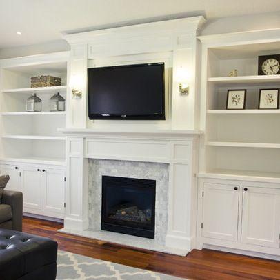 Bookcases Around Fireplace Family Room Bookshelves Around
