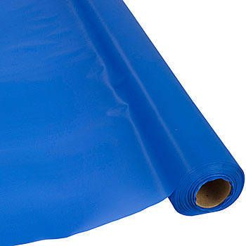 Save On Our Dark Blue 300 Plastic Table Roll And Cover Event Tables On A Budget Plastic Table Covers Plastic Tables Blue Table