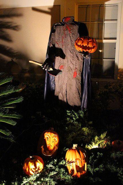 headless horseman idea for pumpkin patch