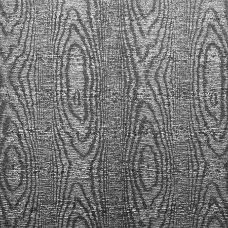 Metallic Wild Woods Wallcovering In Sequoia Silver Faux Bois