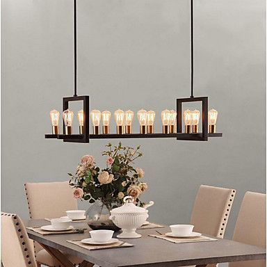 Vintage Industrial Lighting Over Ding Table Kitchen Island Pendant