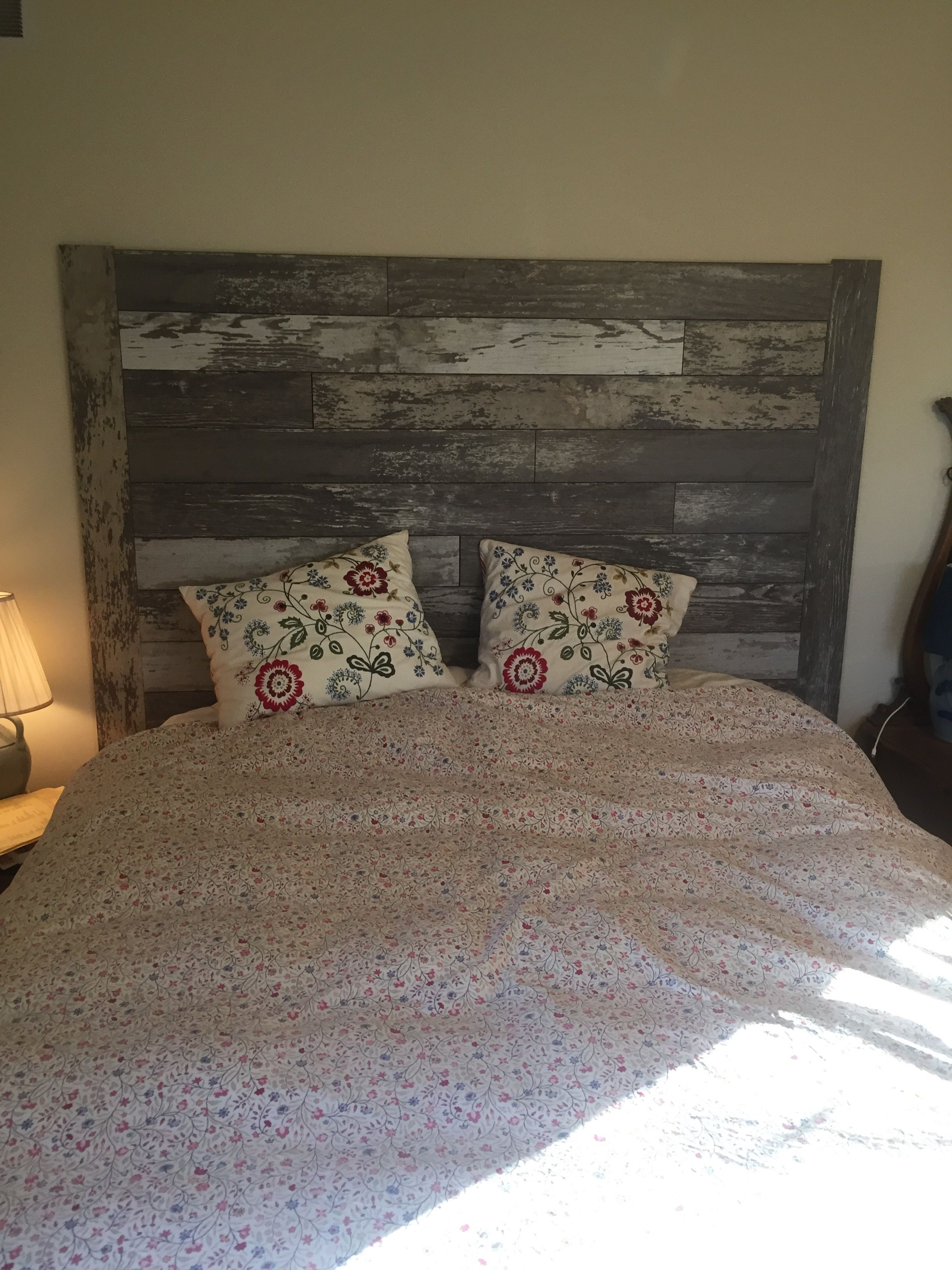 Headboard Using Laminate Flooring Bed In 2019 Flooring