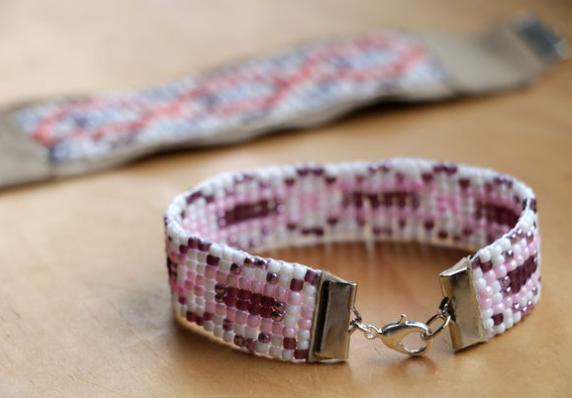 Colorful Beaded DIY Loom Bracelet | AllFreeJewelryMaking.com
