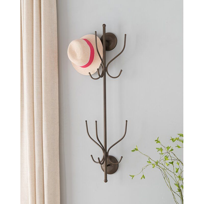 Wall Mounted Coat Rack In 2020 Wall Mounted Coat Rack Pewter Metal Wall Design
