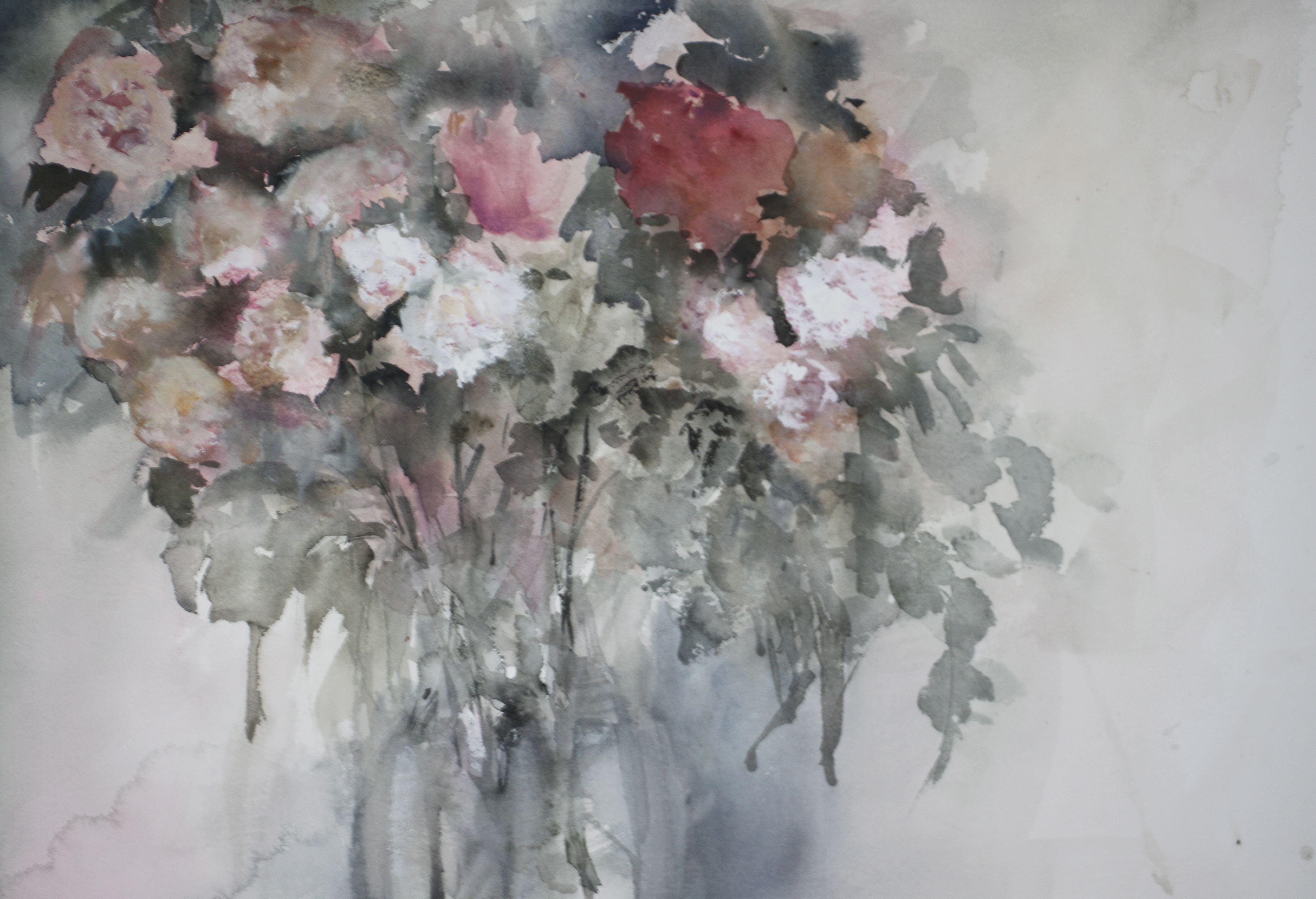 Flower bouquet / Ramo de flores - Watercolour / Acuarela