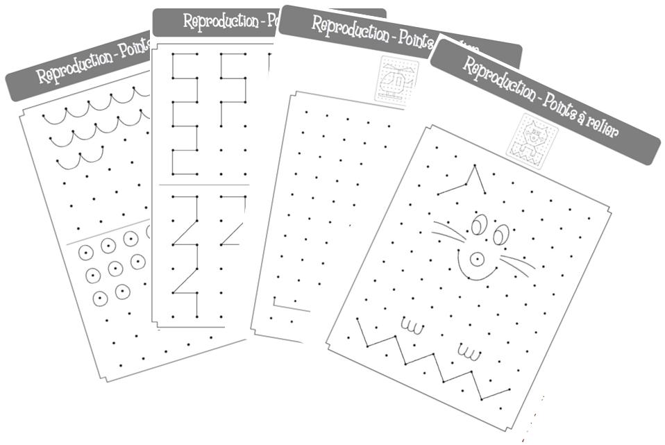 Reproduction de figures à partir de points | Géométrie, Ecole de crevette et Le point