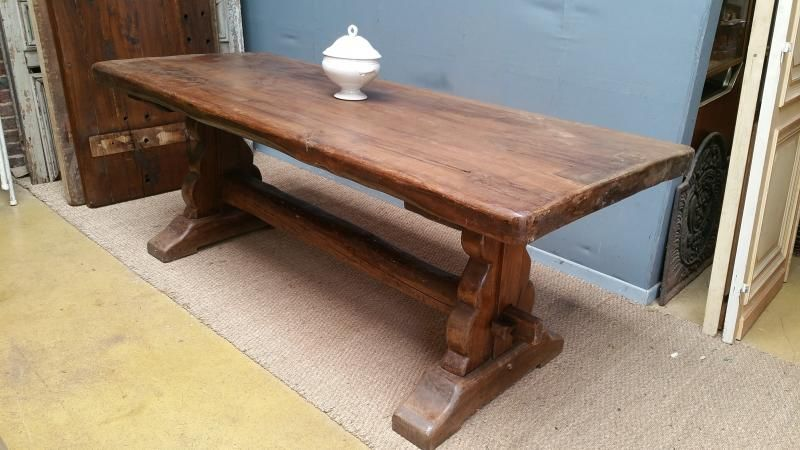 Table Monastere Chene 2m09 French Antiques Fr Table Monastere Table Chene