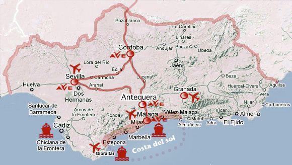 Mapa De Antequera Malaga.Pueblos Bonitos De Malaga Andalucia Map World Map Travel