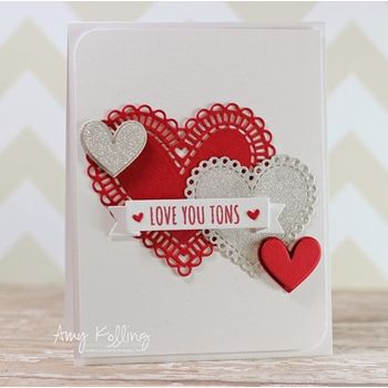 Simon Says Stamp SMALL HEART DOILY Wafer Dies SSSD