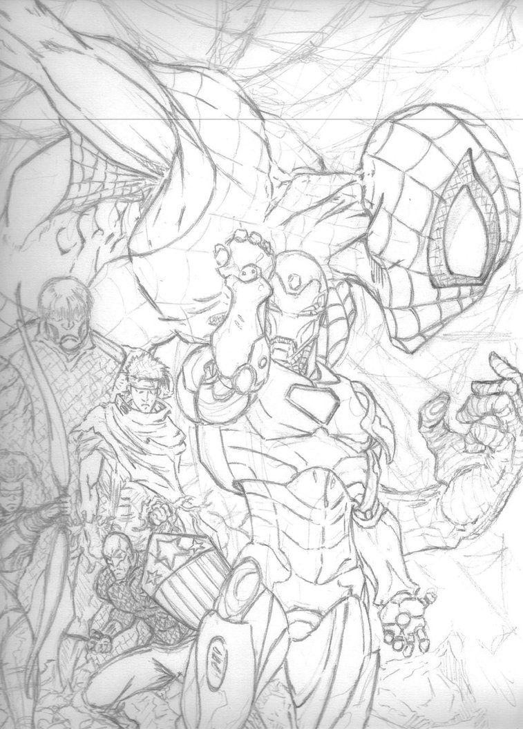 AVENGERS Sketch Sketches, Marvel art, Sketch book