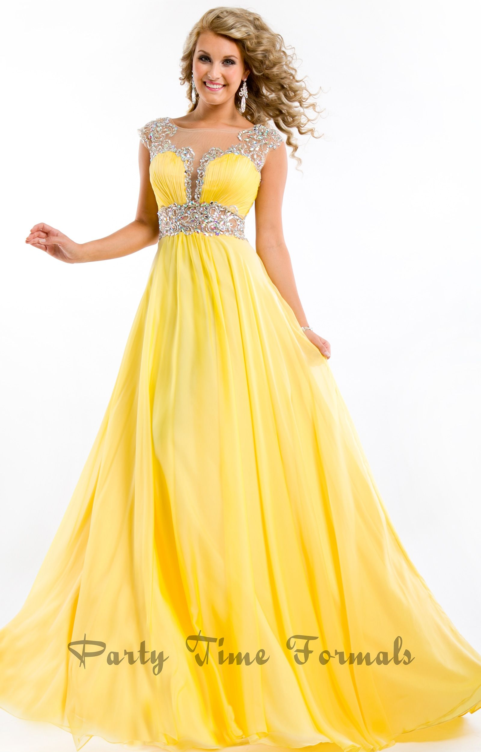 Images of Yellow Party Dresses - The Fashions Of Paradise