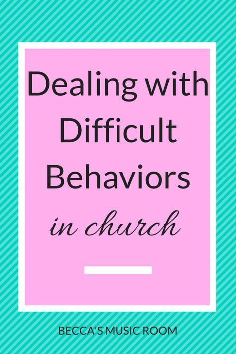 Gray Youth Group Rooms: Dealing With Difficult Behaviors In Church. Tips On