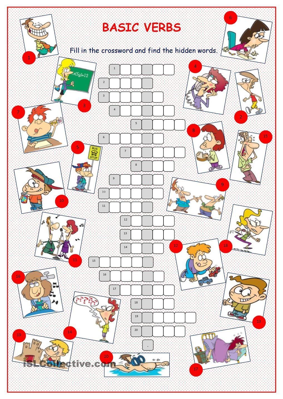 Basic Verbs Crossword Puzzle Crossword Puzzle Verb Crossword [ 1440 x 1018 Pixel ]