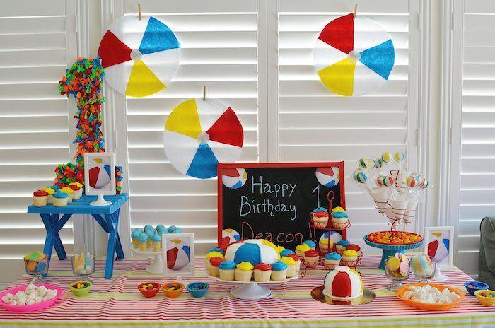 Beach Ball Themed Birthday Party Beach Ball Birthday Birthday