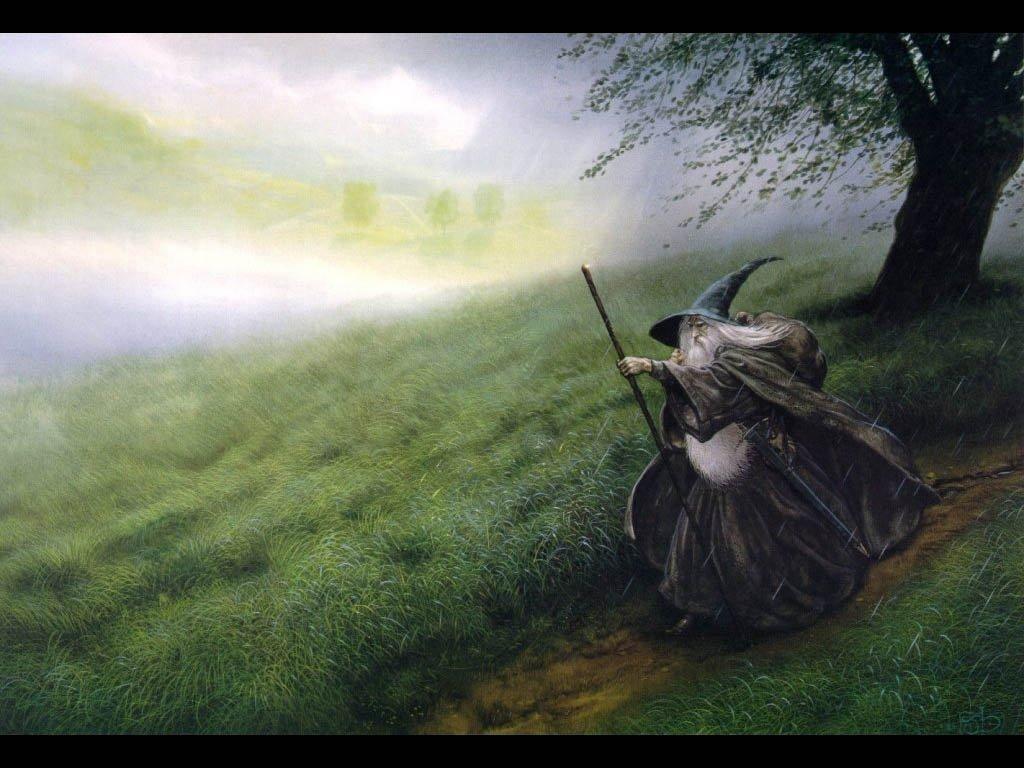 Обои властилин колец, John howe, gandalfs return. Фантастика foto 12