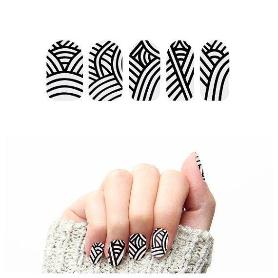 Where\'s my Mummy Nail Wraps Set of 22 by Tattify on Etsy | Black ...