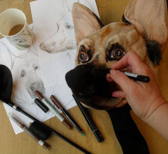 GOLF club head cover Custom Dog portrait German by Puppetsinabag