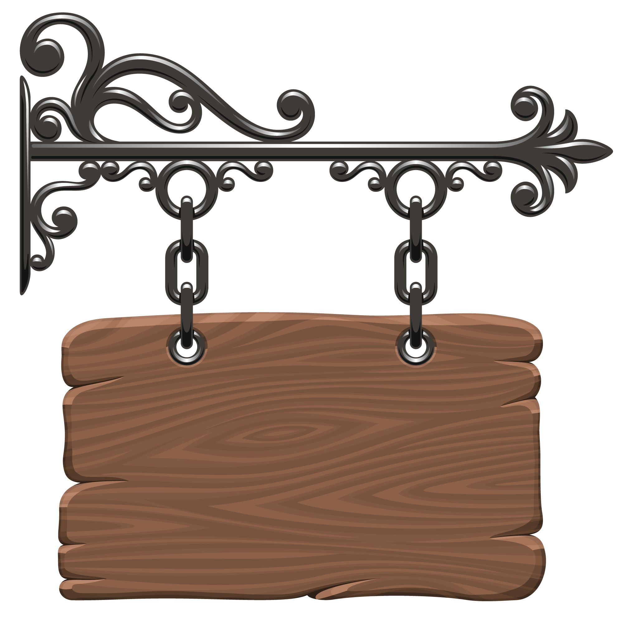 Free Vector Vector Signs And Bulletin Board Material Iron Decor Wrought Iron Decor Iron