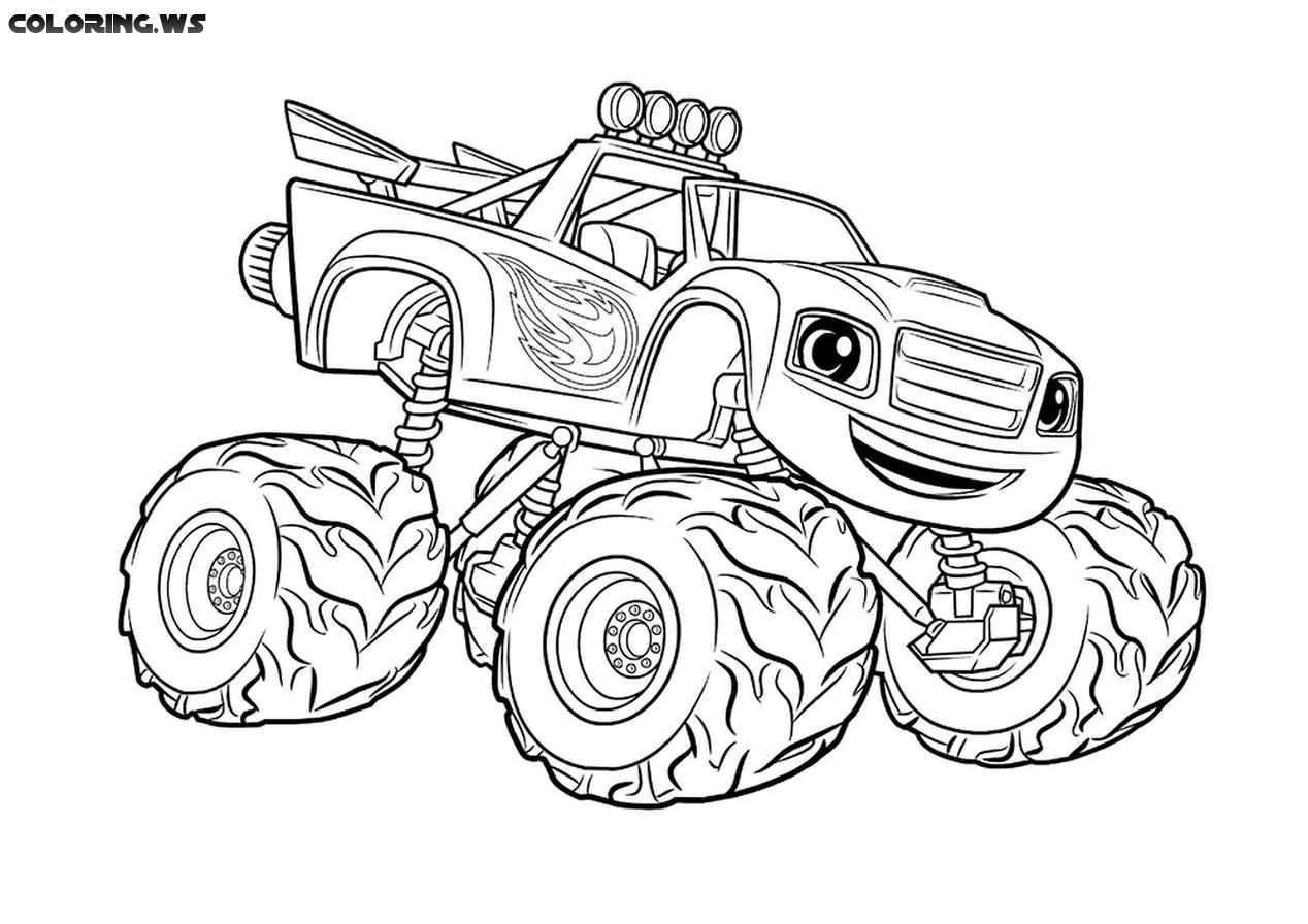 Free Printable Monster Truck Coloring Page Truck Coloring Pages