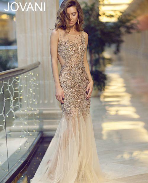 Long backless dress 78654 - Prom Dresses