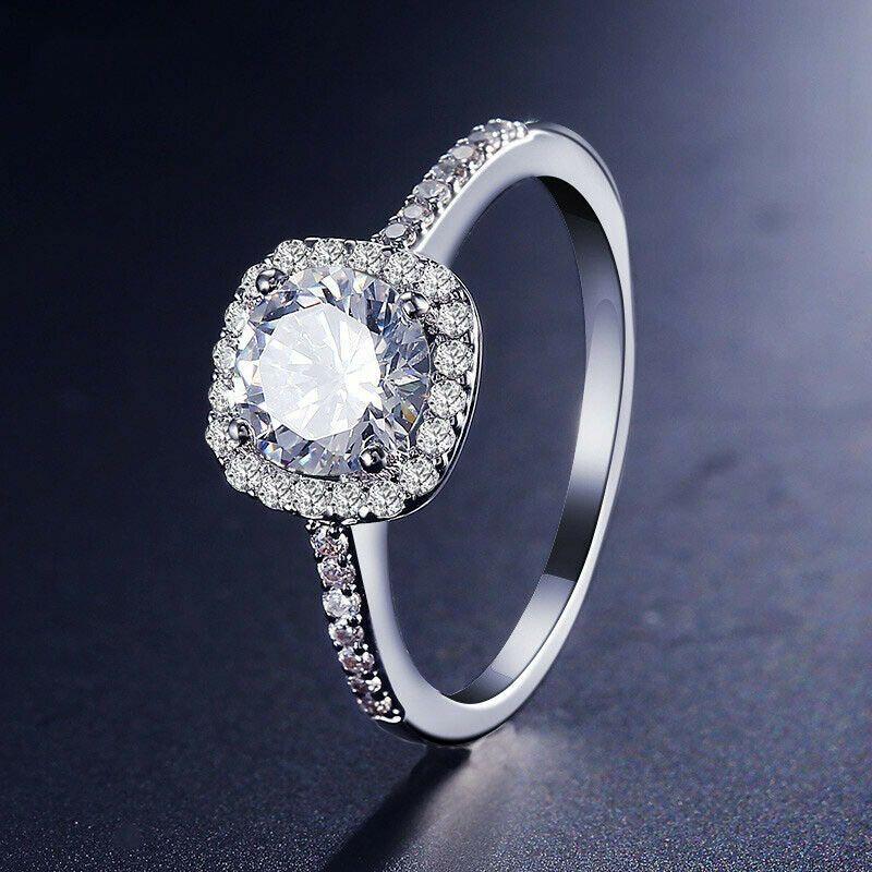 Details about luxury elegance square dvvs1 diamond 925