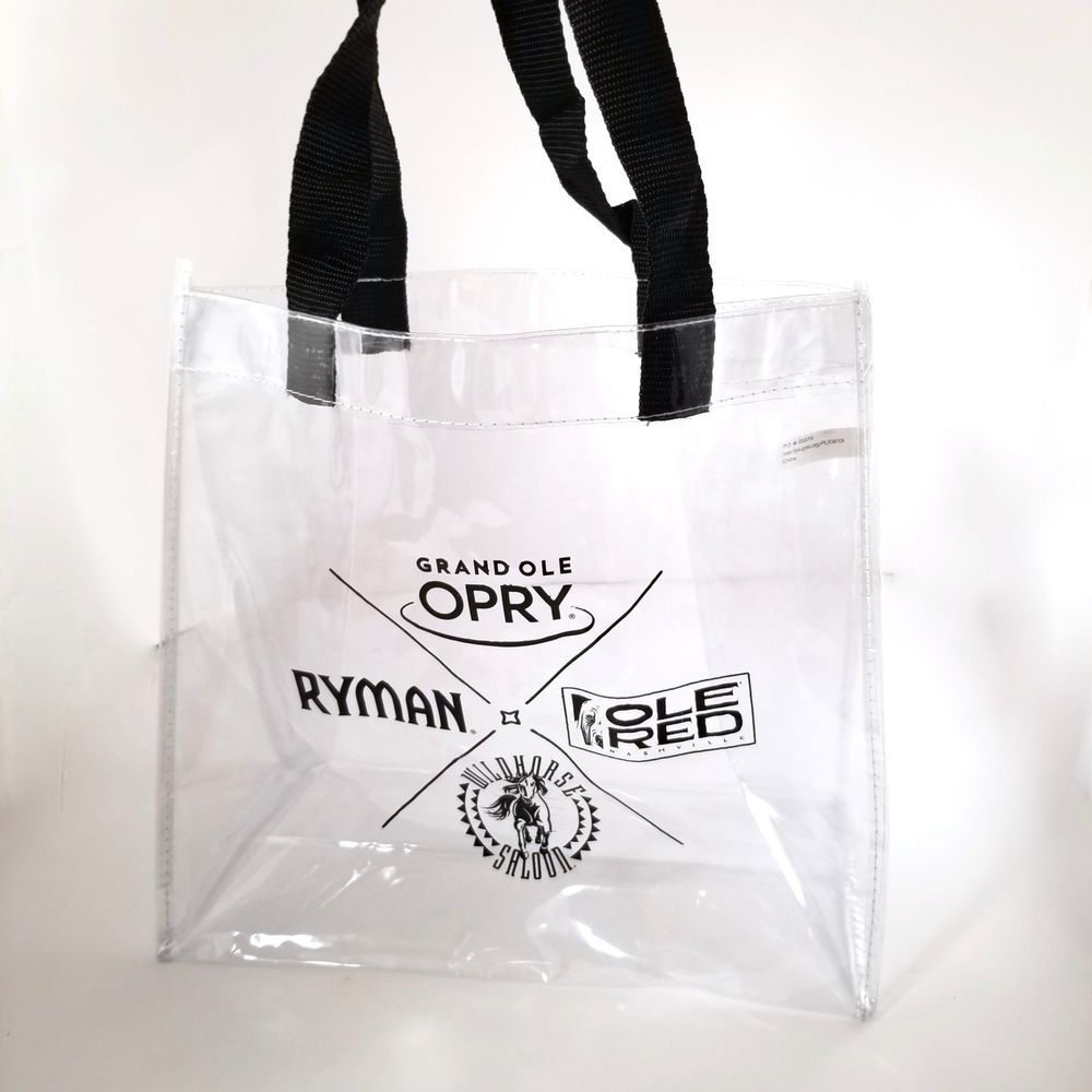 f33efb1885 Ole Red Nashville Grand Ole Opry Concert Clear Plastic Reusable  tote   Stadiumbag  NFL  Tote  totebag  grandoleopry  nashville  olered  concert