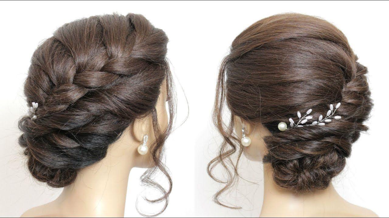 Braided Side Bun Updo Hairstyles For Long Hair Youtube Side Bun Hairstyles Braided Updo Long Hair Braid Updo Tutorial