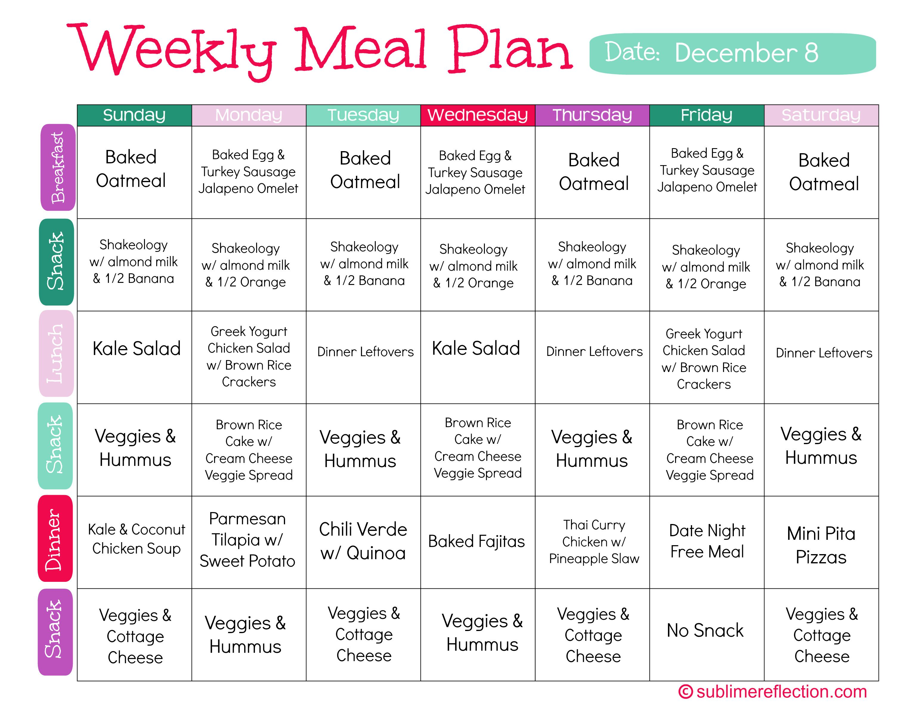Clean Eating Meal Plan 1 | FITNESS | Clean eating meal plan, Clean eating recipes, Clean eating ...