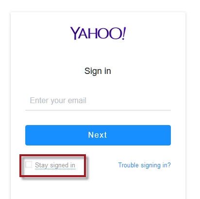Yahoo Mail Login Stay Signed In Mail Login Email Email Account