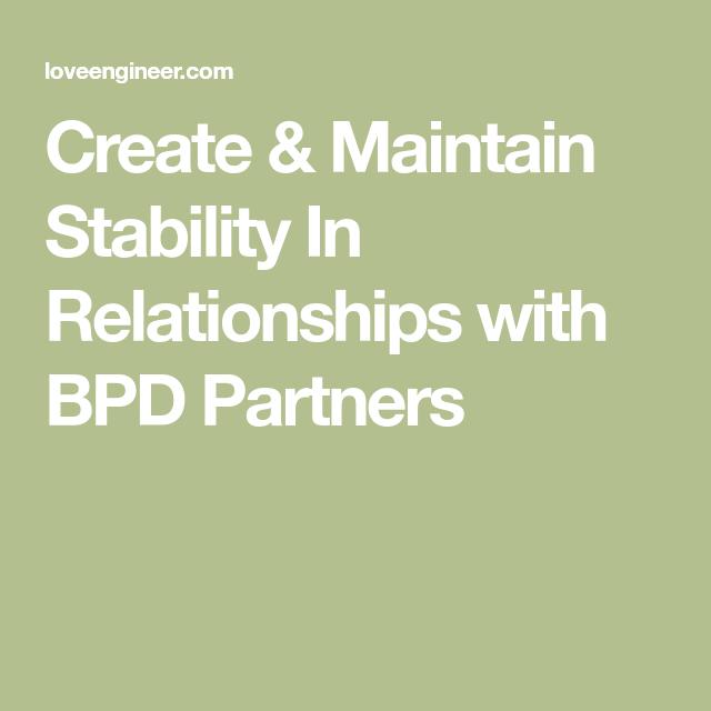 Bpd rebound relationships