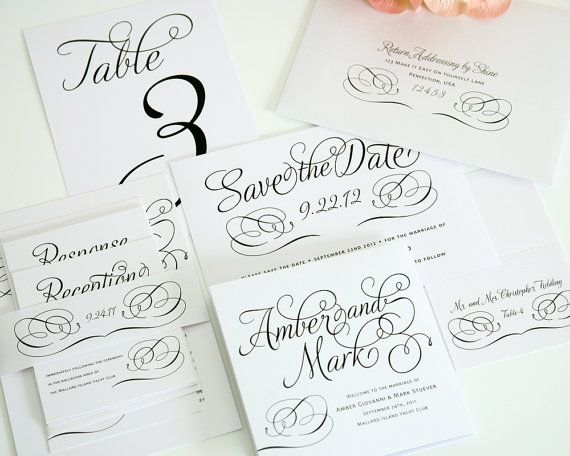 Complete Wedding Invitation Package Charming By Shineinvitations