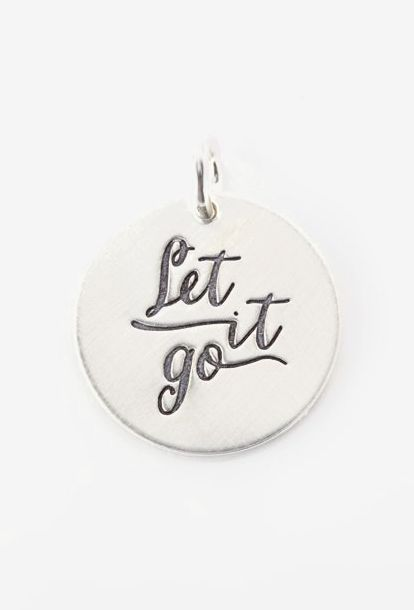 Sterling Silver Expressions 'Let It Go' Charm