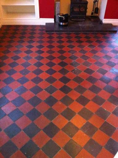 Victorian black and red kitchen floor tiles | Ideas for the House ...