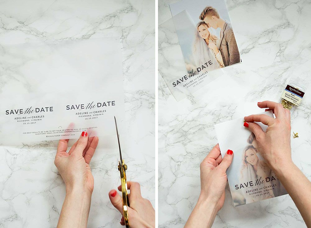 Make these gorgeous save the dates at home with this free save the ...