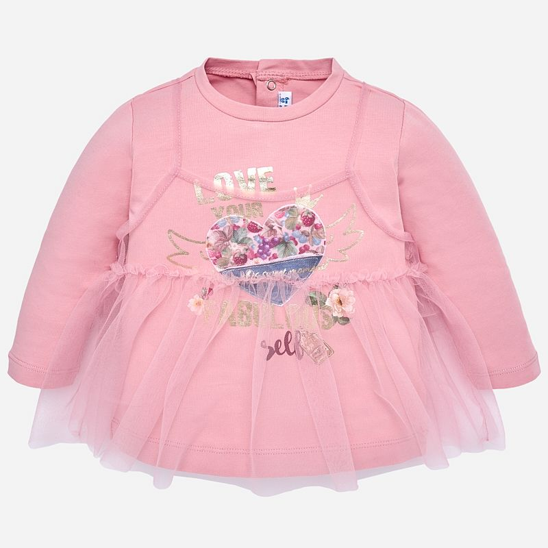 6f986f042 Tulle long sleeved t-shirt for baby girl Petal | : FALL 19 | Shirts ...