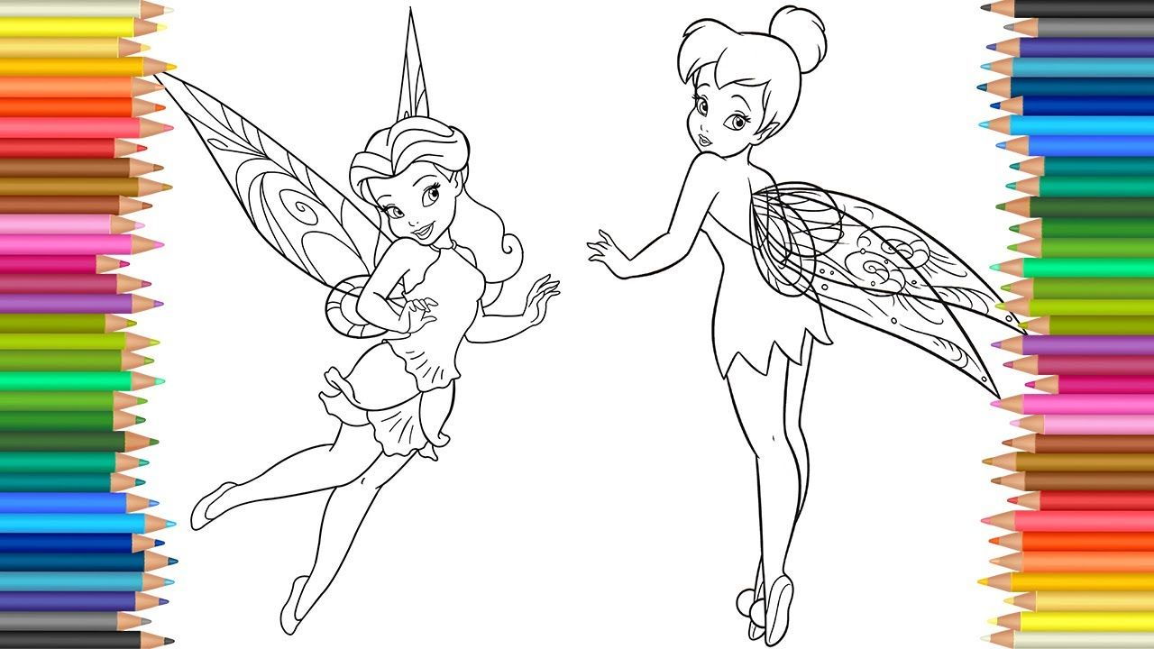 Disney Fairies coloring pages l Tinkerbell Rosetta ...