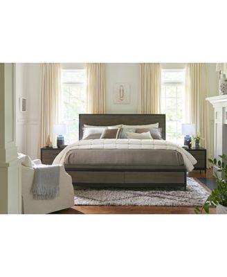 Avery Brown Storage Bedroom Furniture, 3-Pc. Set (Queen Bed, Dresser ...