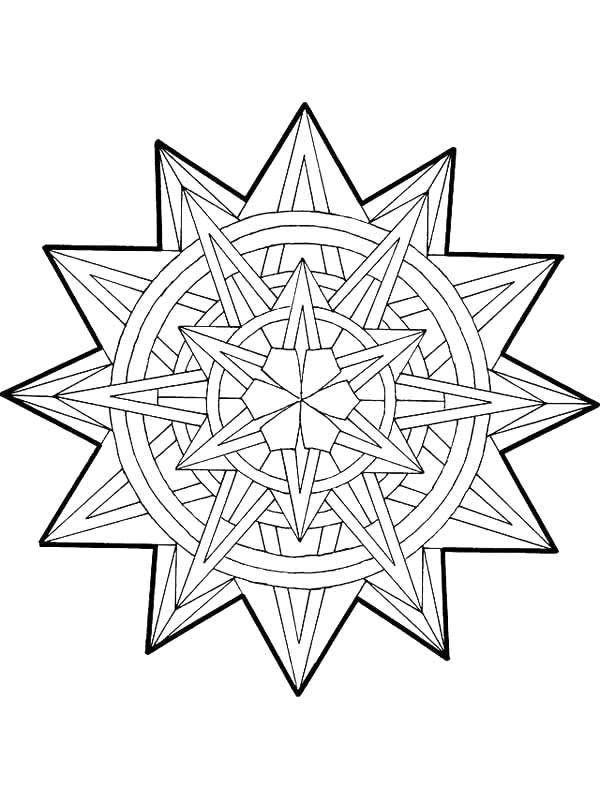Ausmalbild Mandala Weihnachten - Mandala Weihnachten | mandalas ...