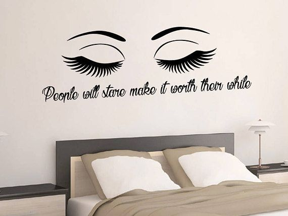 Wall decal eyes make up art quote vinyl stickers eye diy and crafts pinterest wall decals free studio and extra money
