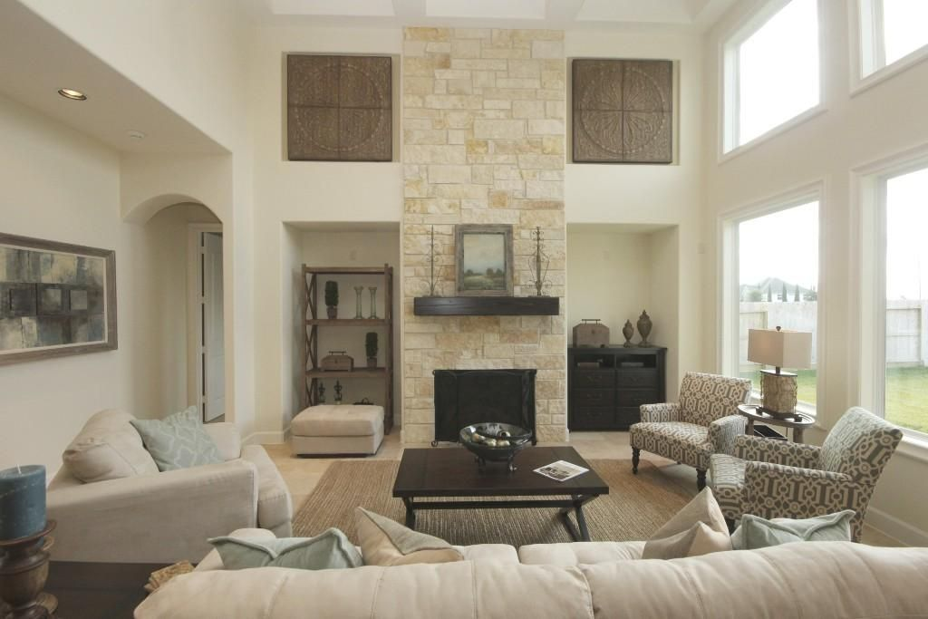 floor to ceiling stone fireplace Google Search Family