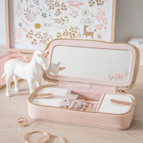 Boite A Bijoux De Voyage En Tissu Pink Room Decor Birthday Balloon Decorations Cute Luggage