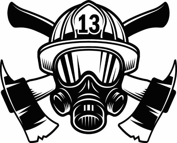 b56a3de2515 Firefighter Logo  1 Firefighting Rescue Helmet Mask Axes Fireman ...