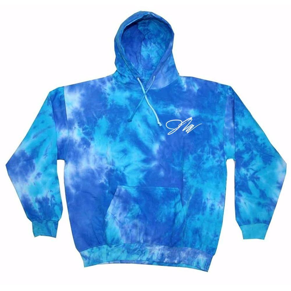Tie Dye Multi-Color Hoodie Colortone Kids M Cotton Long Sleeve Pockets No Zipper