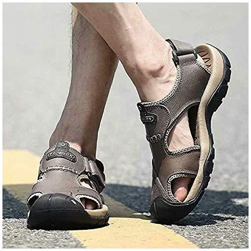 visionreast Mens Leather Sandals