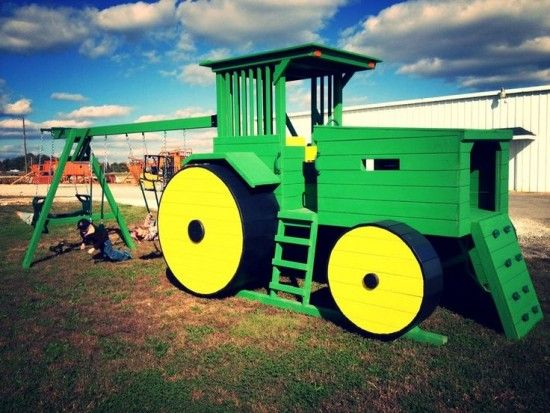Kinderbett selber bauen traktor  John Deere Bunk Bed Plans Easy DIY Project | Gartenträume ...