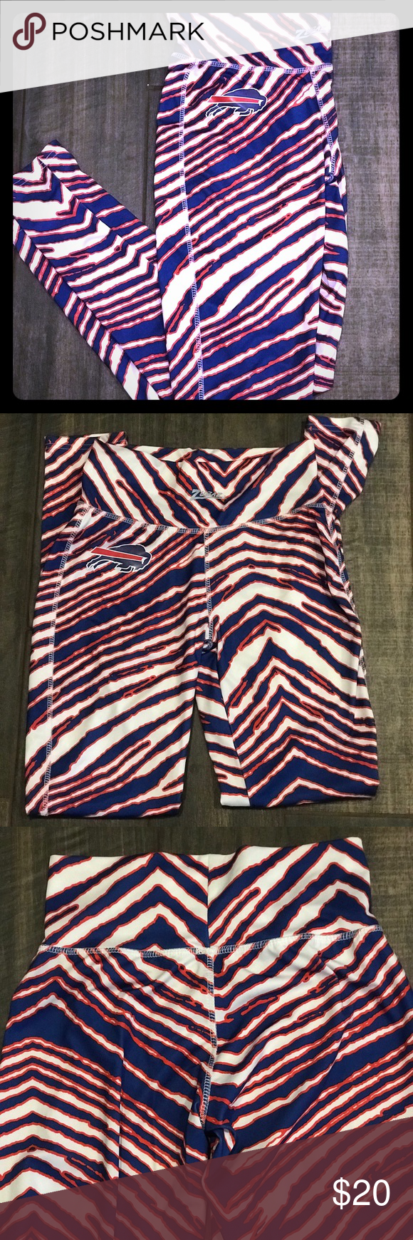 Buffalo Bills Zubaz Leggings Nwot Never Worn Perfect For The Upcoming Football Session Pair With A Jersey H Leggings Are Not Pants Tailgate Outfit Leggings
