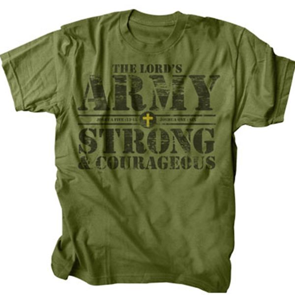 56605fe0c This t-shirt is military green in color and has the words