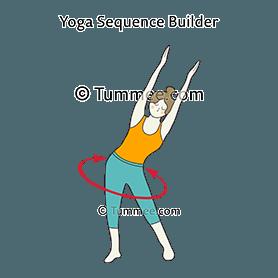 standing pelvic circles arms up yoga  types of yoga yoga