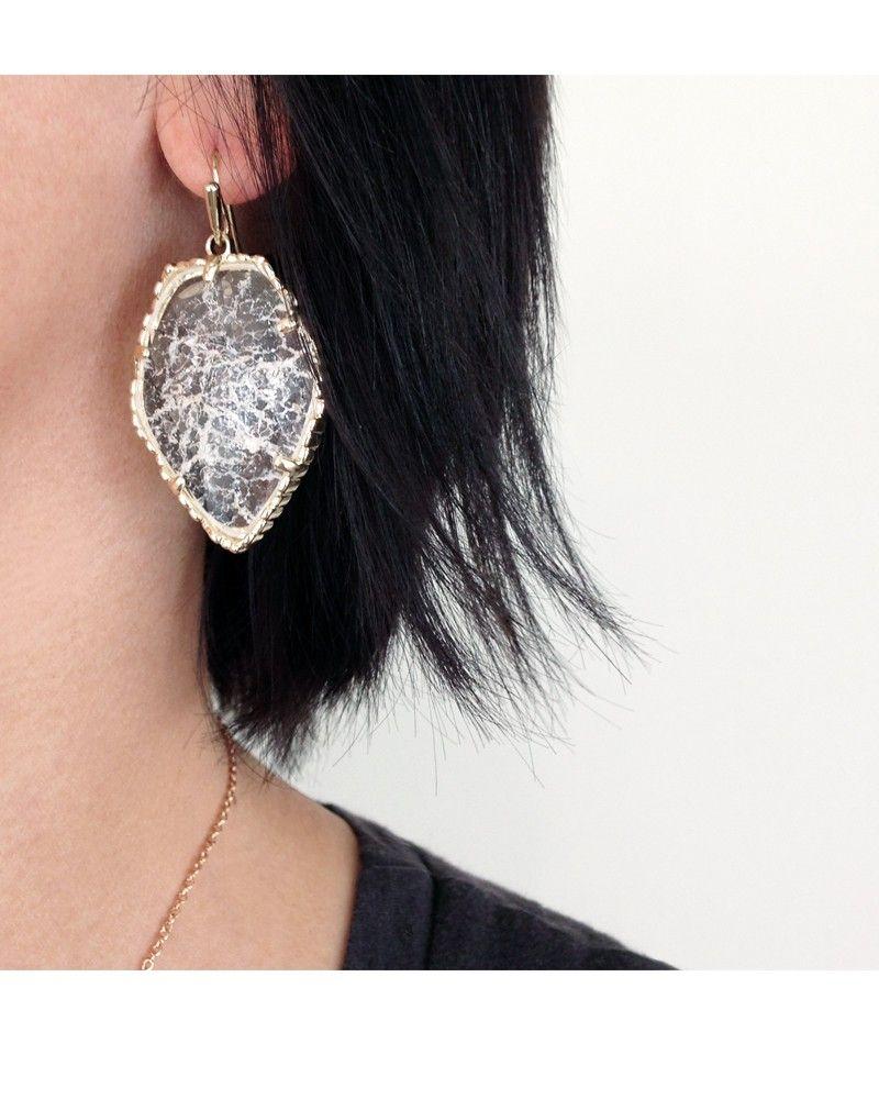 Corley Silver Drop Earrings In Iridescent Slate  Kendra Scott Jewelry