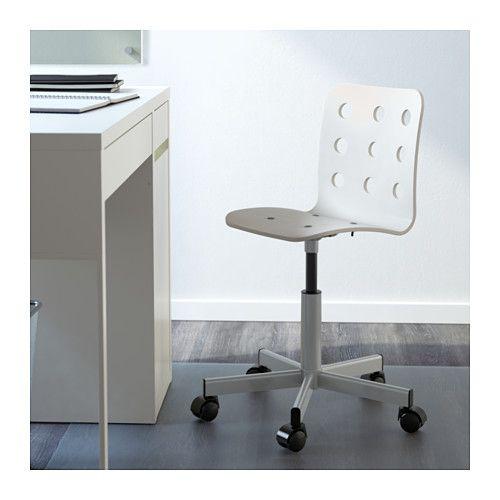Ikea Bureaustoel Kind Wit.Jules Tienerstoel Wit Zilverkleur Ikea Slaapkamer